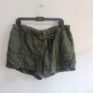 JCP green soft shorts